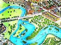 Карта Минска. Белэкспо. Комсомольское озеро. Стэла. Картинка
