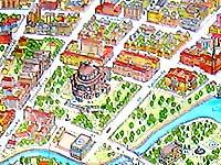 Карта Минска. Троицкая гора. Театр оперы