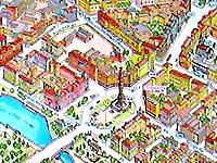 Карта Минска.  Площадь Победы