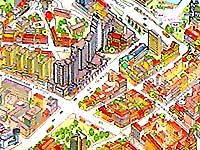 Немига на карте Минска