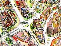 Карта Минска.  Дом правительства