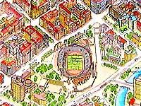 Карта Минска. Стадион Динамо