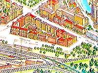 Карта Минска. Жд вокзал