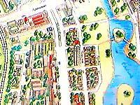 Карта Минска. Червенский рынок. Река Свислочь