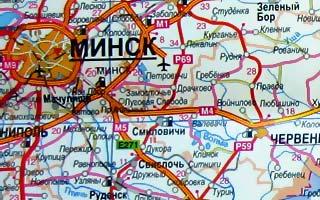 Подробная Карта Смолевичи