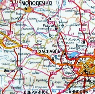Минская область карта