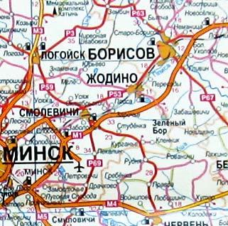Карта Минской области. Минская область