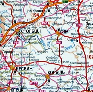 Мир на карте Беларуси