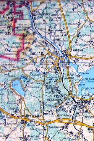 Карта Минского района
