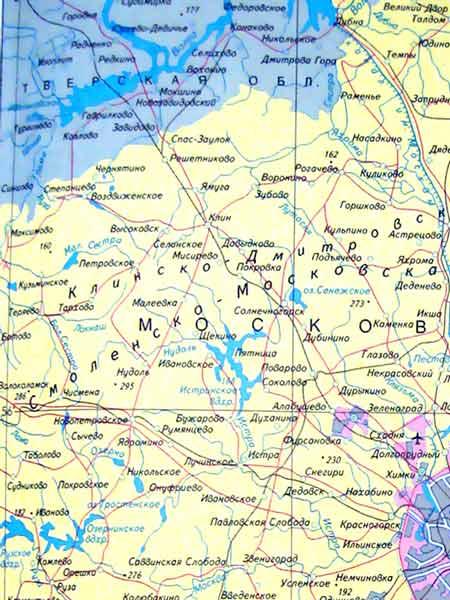 Фото. Карта Подмосковья