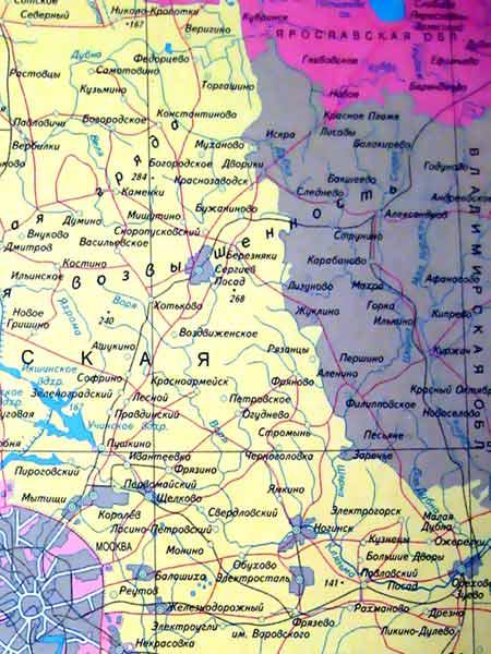 Фото. Карта московского региона
