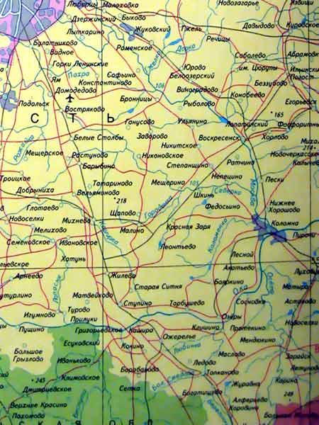 Фото. карта московской области