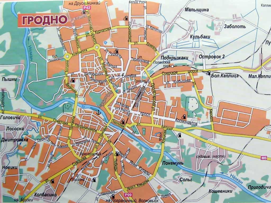 Карта программу дорог беларуси