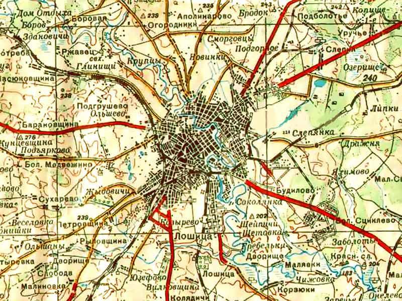 1950 х годов карта минска история