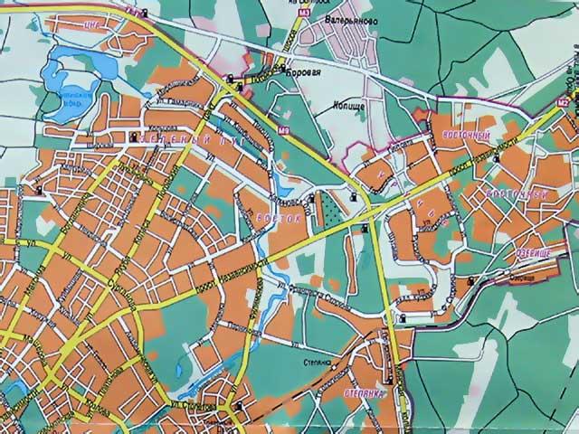 Районы Минска. Карта Минска.