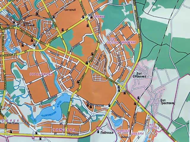Карта Серебрянки