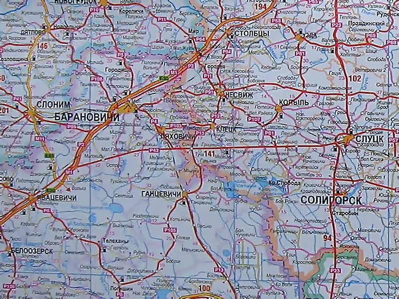 Карта Минской Области Стародорожский Район