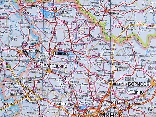 Карта Витебской области.