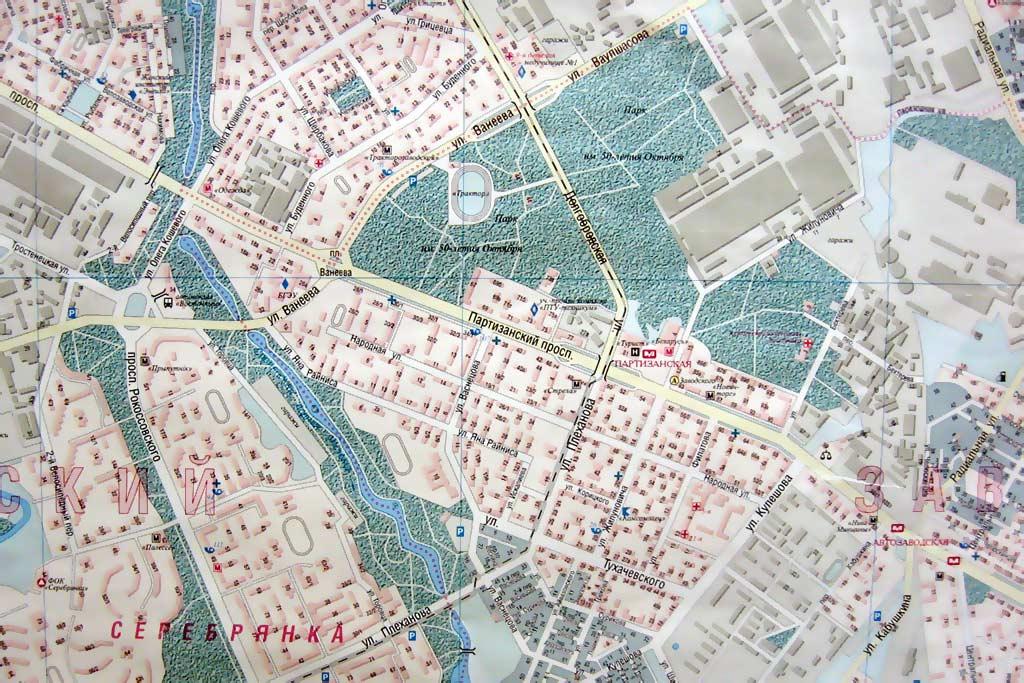 Карта Минска. Районы Минска.