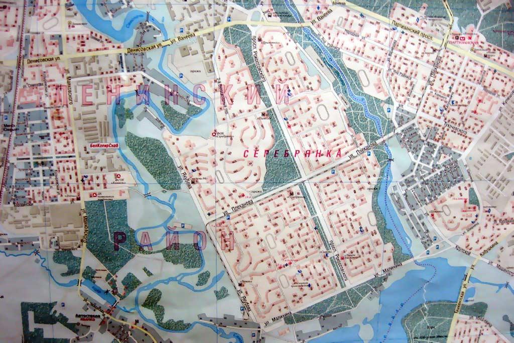 Серебрянка. Карта Минска.