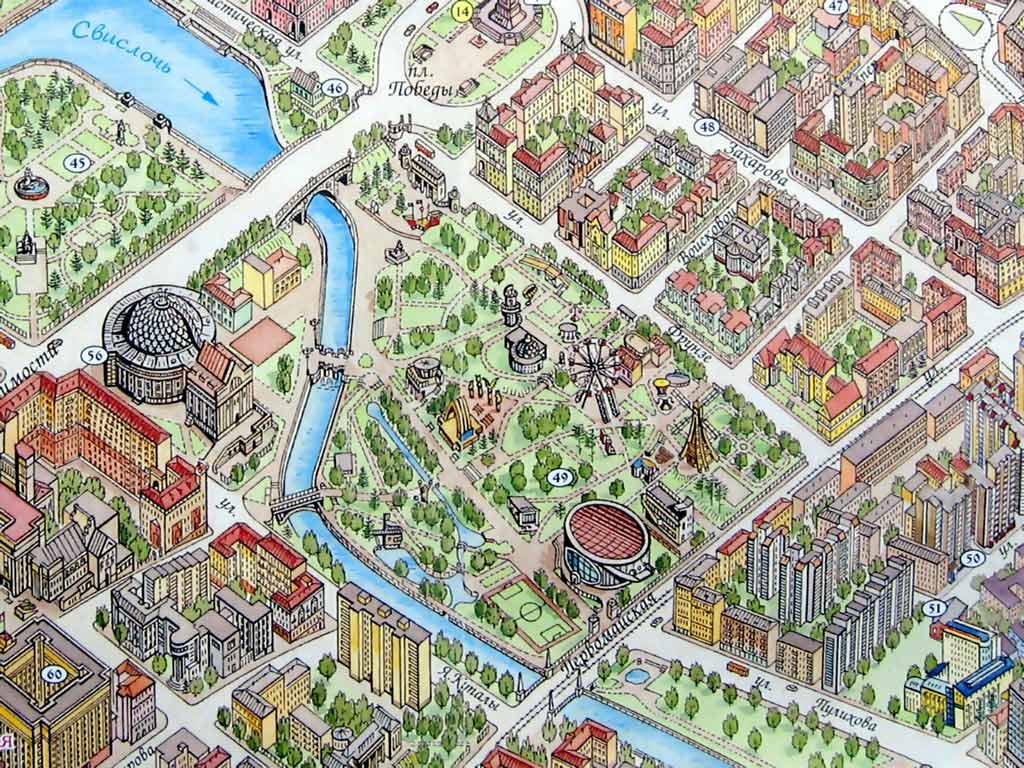 Цирк на карте Минска. Картинка. Фотография