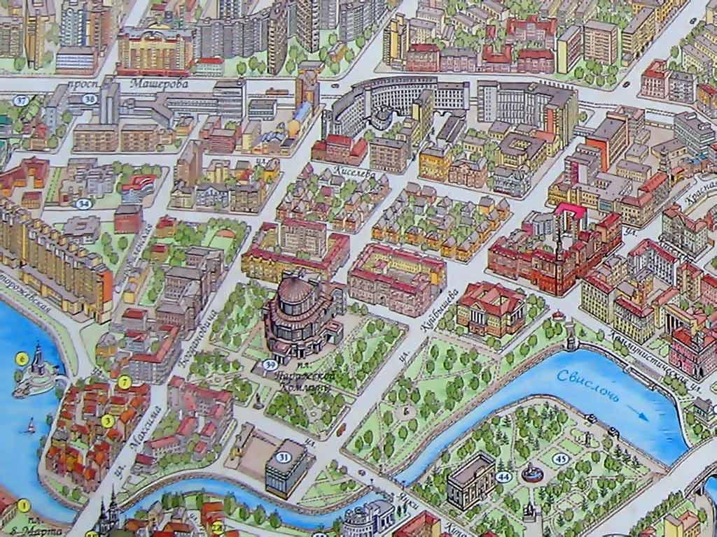 Осмоловка на карте Минска. Картинка. Фотография