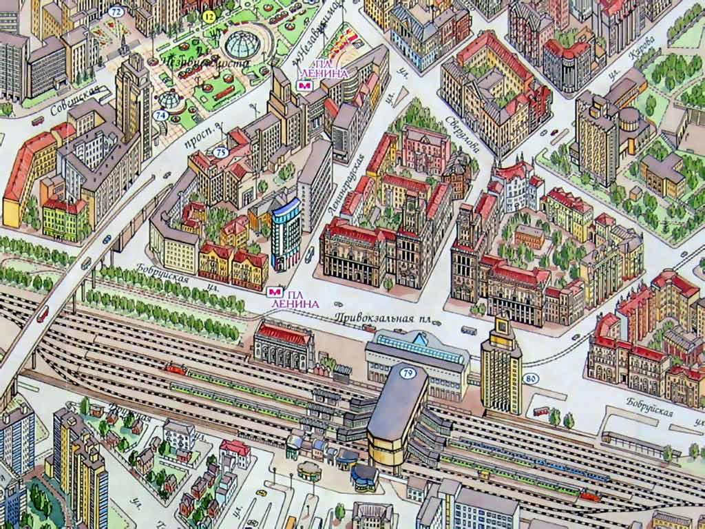 Рисунок вокзала